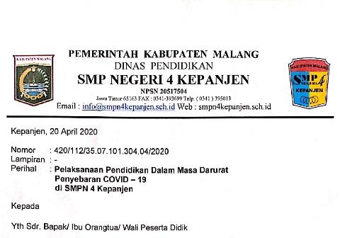 Surat Edaran Perpanjangan Libur 1 Juni 2020